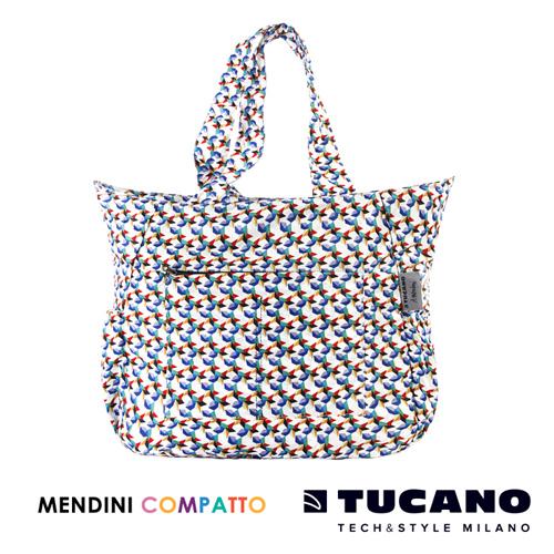 TUCANO X MENDINI 設計師系列超輕量折疊收納托特包(繽紛)