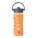美國唯樂Lifefactory 彩色玻璃水瓶-吸管350ml 橘色LF281001