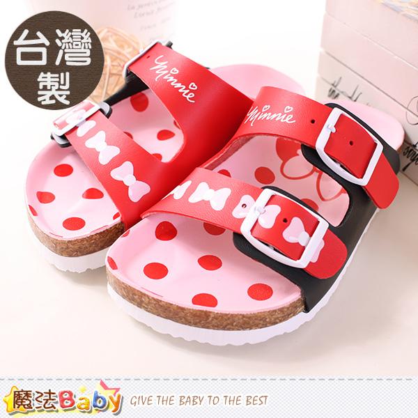 魔法Baby~童鞋 台灣製迪士尼米妮正版女童涼鞋 sh9635