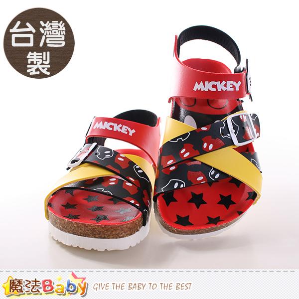 魔法Baby~童鞋 台灣製專櫃款迪士尼米奇正版童涼鞋 sh9645