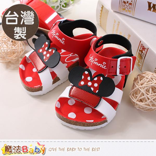魔法Baby~寶寶涼鞋 台灣製迪士尼米妮正版童鞋 sh9647