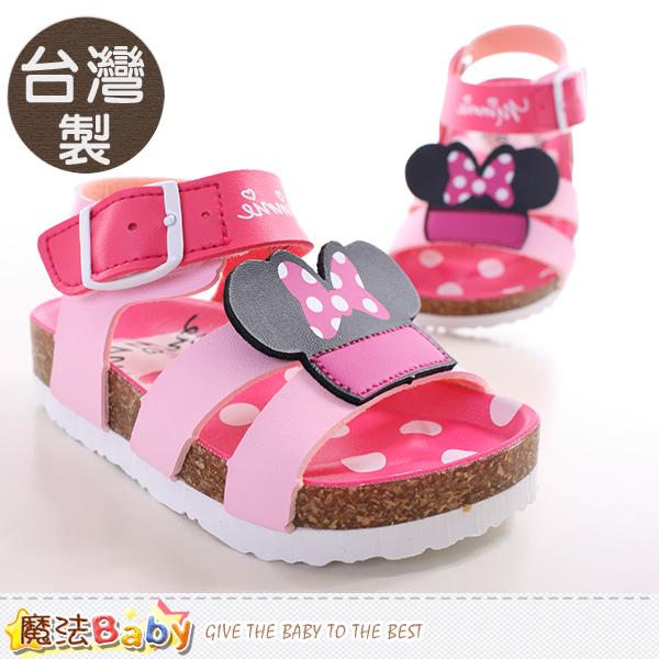 魔法Baby~寶寶涼鞋 台灣製迪士尼米妮正版童鞋 sh9648