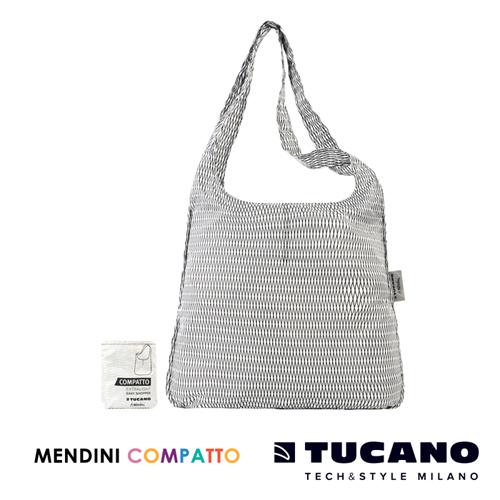 TUCANO X MENDINI 設計師系列超輕量折疊收納輕鬆購物袋(白)