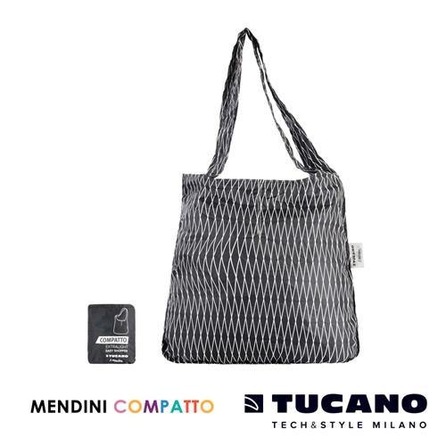 TUCANO X MENDINI 設計師系列超輕量折疊收納輕鬆購物袋(黑)