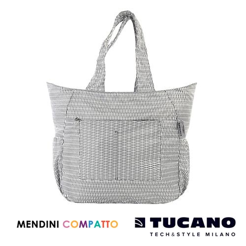 TUCANO X MENDINI 設計師系列超輕量折疊收納托特包(白)