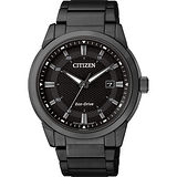 CITIZEN Eco-Drive 都會時尚光動能腕錶-黑/42mm BM7145-51E