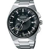 CITIZEN Eco-Drive 衝鋒衛星對時鈦旗艦腕錶-黑/45mm CC2006-53E