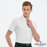 Emilio Valentino 范倫提諾吸濕排汗條紋短袖襯衫-白