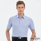 Emilio Valentino 范倫提諾吸濕排汗條紋短袖襯衫-藍