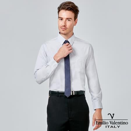 Emilio Valentino 范倫提諾經典條紋長袖襯衫-灰條