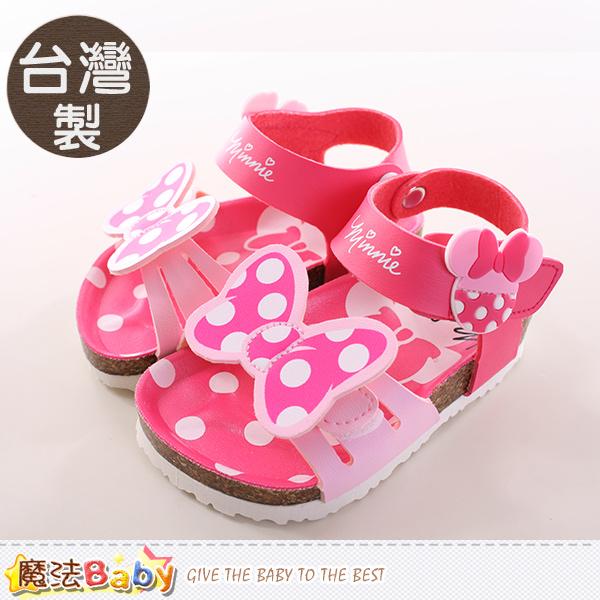 魔法Baby~女童涼鞋 台灣製迪士尼米妮正版女童涼拖鞋 sh9687
