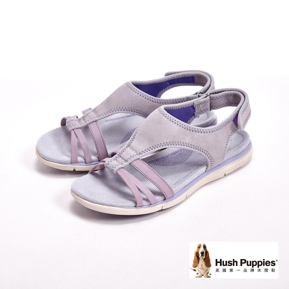 Hush Puppies MIRANDA AIDA經典舒適機能健走系列涼鞋-銀(另有黑)