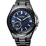 CITIZEN GPS光動能衛星對時鈦金屬限量錶-藍x黑/43m CC3015-57L