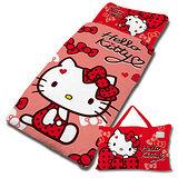 【享夢城堡】HELLO KITTY 蝴蝶結甜心系列-鋪棉兩用兒童睡袋(紅)
