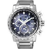 CITIZEN 星辰 北極星極光時尚男用電波腕錶/43mm/AT9070-51L