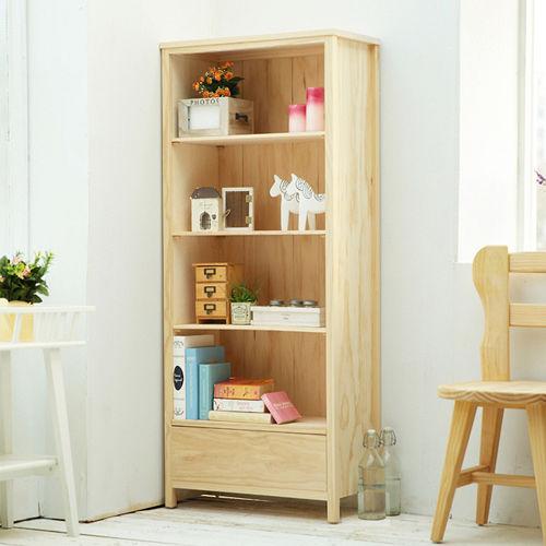 [自然行] 原木書櫃 (水洗白/安全環保塗裝)