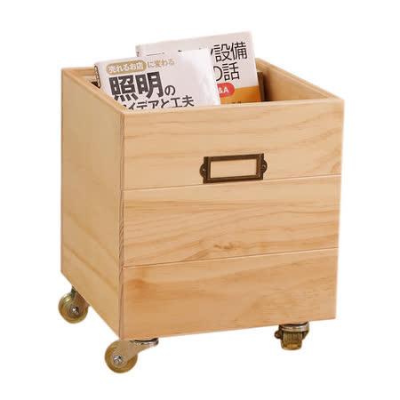 自然行 鄉村雜貨附輪收納箱
