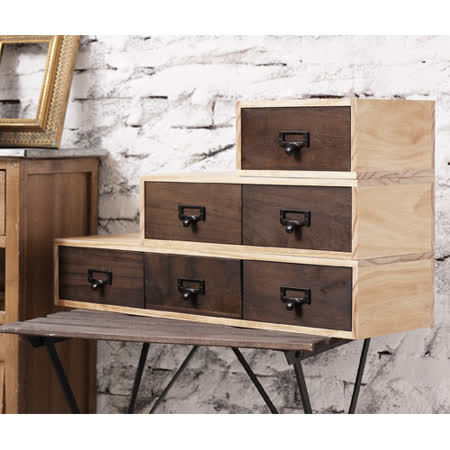 工業風 實木收納盒M款
