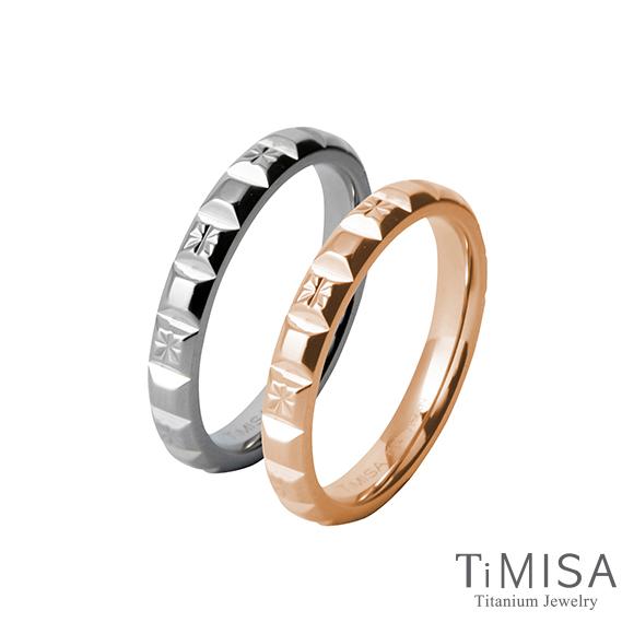 【TiMISA】濃情巧克力(雙色) 純鈦對戒