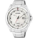 CITIZEN Eco-Drive 超級鈦光動能時尚腕錶-銀/43mm AW1401-50A