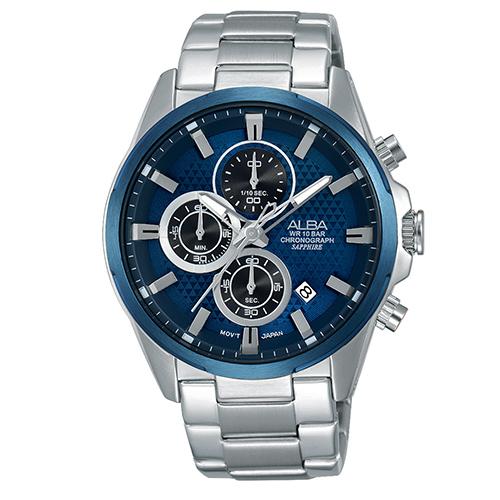ALBA雅柏 簡單生活夏日時尚三眼計時腕錶-42mm/VD57-X081B
