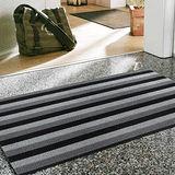 范登伯格 魯伯PVC黑白條紋刮泥地墊-45x70cm