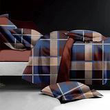 【原色布屋】都會風格 舒柔棉加大四件式被套床包組
