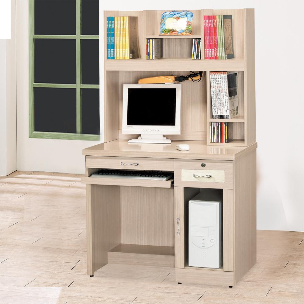 HAPPYHOME 森永白橡3.2尺電腦桌組UZ6-299-1