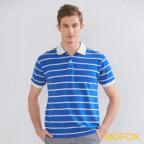 BOFOX 海軍風條紋POLO衫-藍