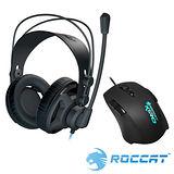 ROCCAT RENGA電競耳機麥克風+KIRO光學電競滑鼠