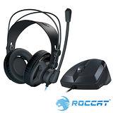 ROCCAT RENGA電競耳機麥克風+SAVU光學電競滑鼠