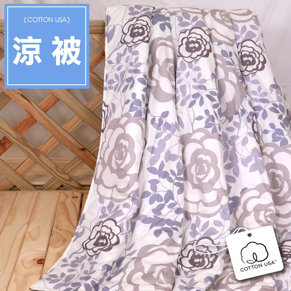 【鴻宇HongYew】100%美國棉 台灣製 夏日涼被- 香榭玫瑰 1893
