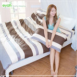 【eyah】頂級極細柔絲綿雙人加大床包枕套3件組-簡約日記本