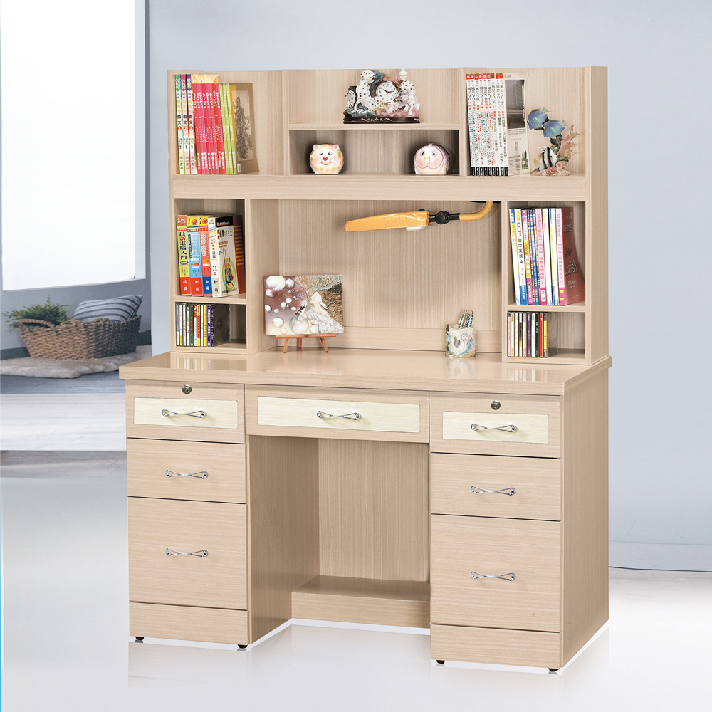 HAPPYHOME 森永白橡4尺書桌組UZ6-299-10