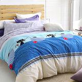 美夢元素 魔法小貓 天鵝絨涼被床包組 單人三件式