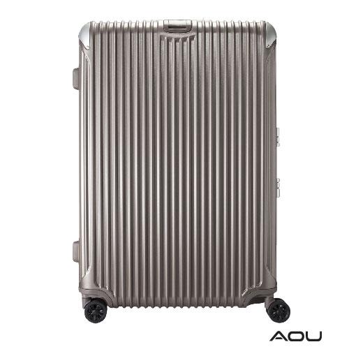 AOU 極速致美系列高端鋁框箱 20吋 獨創PC防刮專利設計飛機輪旅行箱 (香檳金) 90-020C