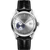 Hamilton RAILROAD 鐵路系列偏心機械腕錶-銀x黑/42mm H40515781