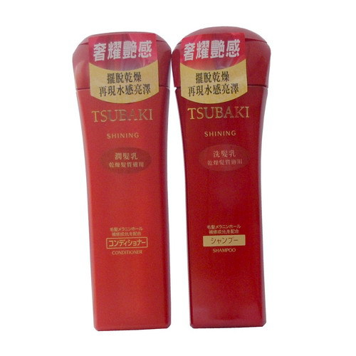 TSUBAKI 思波綺 奢耀艷感組(乾燥髮質適用) - 洗髮乳 220ml、潤髮乳 220ml