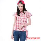 BOBSON 女款格子布上衣 (23134-13)