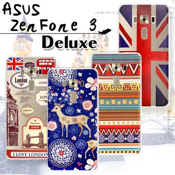 VXTRA ASUS ZenFone 3 Deluxe 5.7吋 ZS570KL 率性風格 彩繪軟式保護殼 手機殼