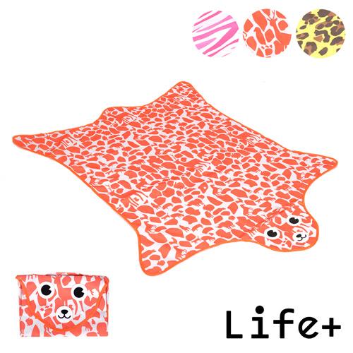 【Life Plus】動物叢林 造型野餐墊/遊戲墊_加大款 (三色任選)
