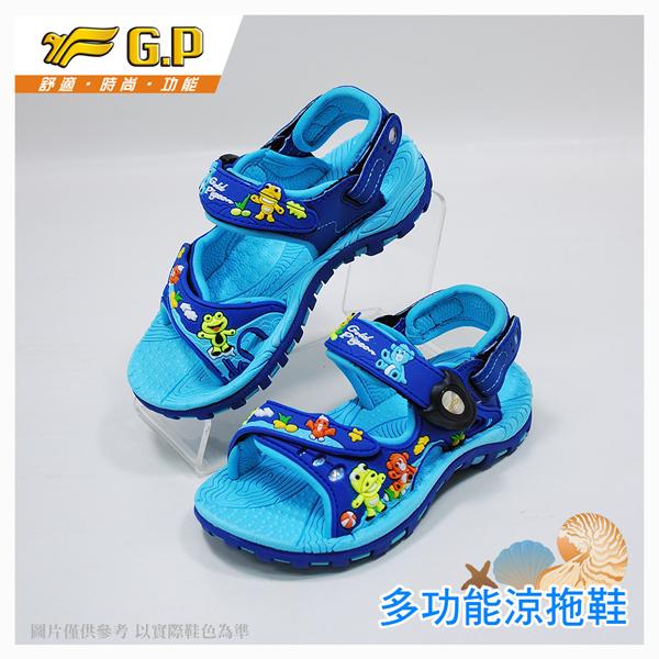 G.P 快樂童鞋~磁扣兩用涼鞋-G6963B-21 水藍色 (SIZE:24-28 共三色)