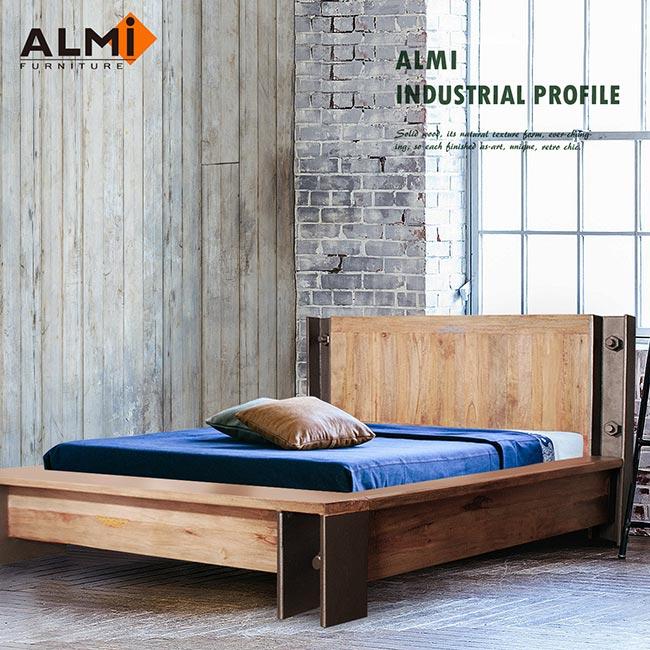 【ALMI】DOCKER PROFILE-BED 154X192 工業風雙人床