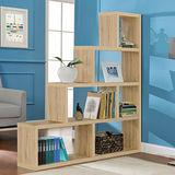 【Yomei】L型多層展示櫃/書櫃/收納櫃/隔間櫃(淺橡色)