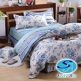 【Saebi-Rer-藝想風華】台灣製活性柔絲絨雙人六件式床罩組