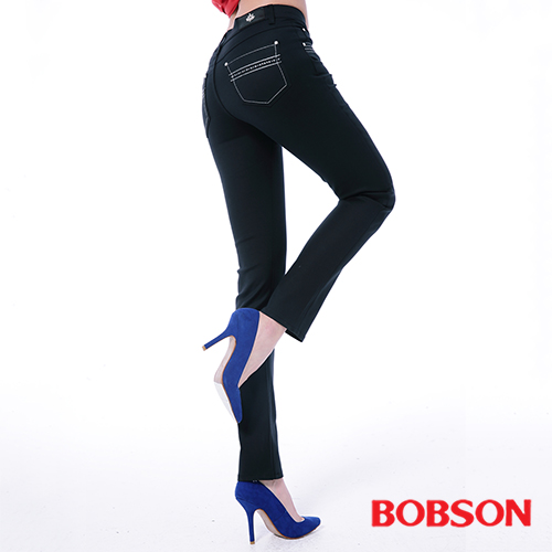 BOBSON 女款超手感彈力小直筒褲(8113-88)