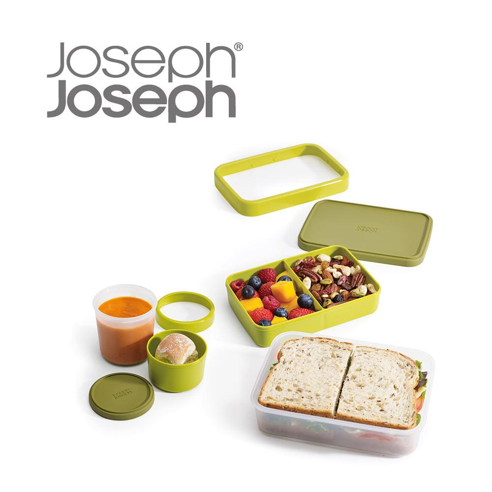 《英國Joseph Joseph》超值野餐組(翻轉午餐盒+翻轉湯盒-綠)