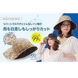 【NIZY】防雨遮陽帽(黑/黃格)