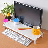 【方陣收納】高質烤漆金屬桌上螢幕架/鍵盤架(白色)