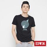 EDWIN 網路限定 幾何圓形短袖T恤-男-黑色